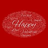 Valentines Day word cloud text — Stock Photo