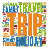 Summer travel or tourism word cloud — Stock Photo