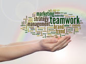 Business marketing word cloud — Stock Photo