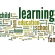 Conceptual learning and education abstract word cloud — Stock Photo #75395957
