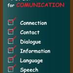 White communication chalk text blackboard word cloud — Stock Photo #75396013