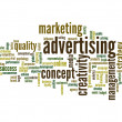 Abstract advertising word cloud — Stock Photo #75396685
