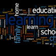 Conceptual learning and education abstract word cloud — Stock Photo #75396757