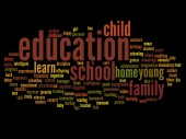 Education abstract word cloud on background — Stock Photo