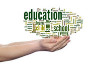 Education abstract education word cloud — Stock Photo