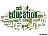Education word cloud — Stock Vector