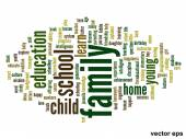 Family education word cloud — Stock Vector