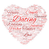 Valentine's Day wordcloud text — Stock Photo