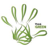 Ecologia mão impressão — Fotografia Stock
