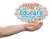 Education or family abstract word cloud — Stockfoto