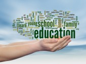 Education abstract word cloud — Stock Photo
