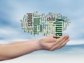 Nube de palabra abstracta de educación — Foto de Stock