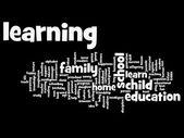 Onderwijs abstracte word cloud — Stockfoto