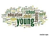 Conceptual  education word cloud — Stock Vector