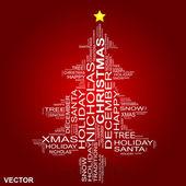 Conceptual Christmas holiday word cloud — Stock Vector
