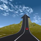 上向き矢印道路 — ストック写真