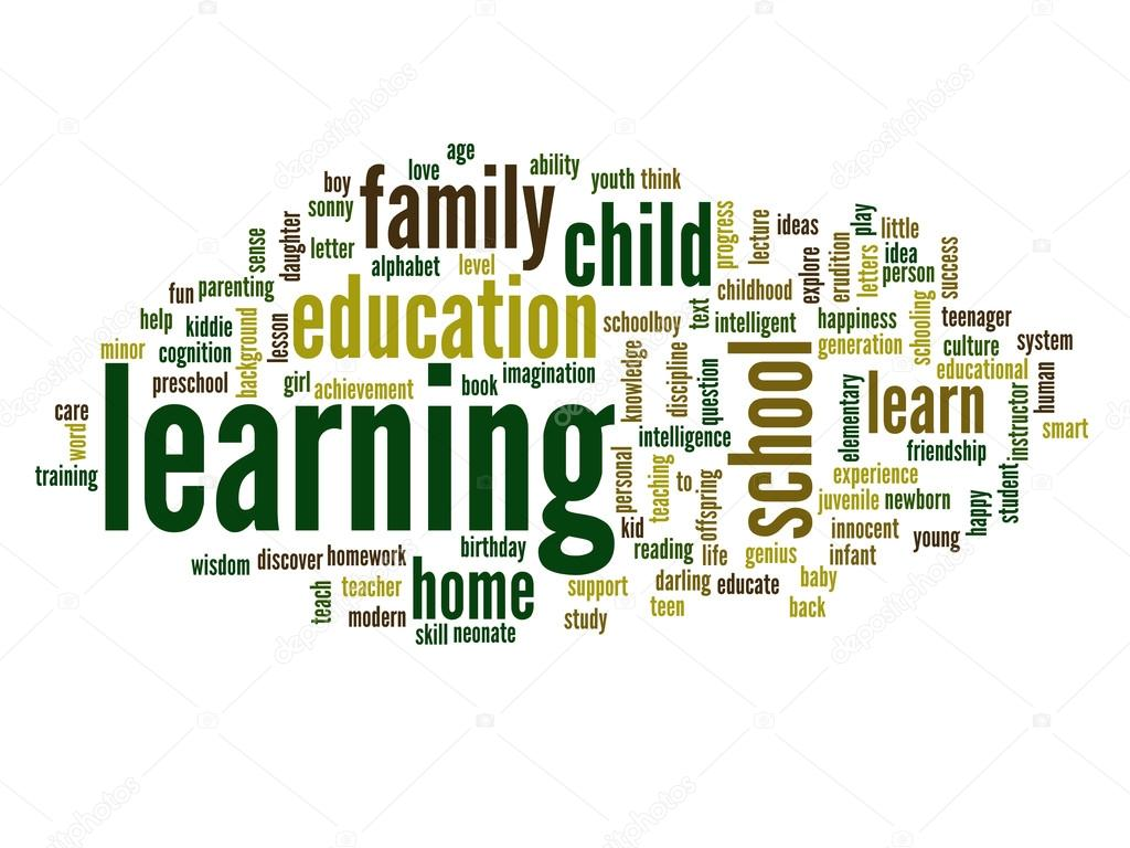 Learning and education abstract word cloud — Stock Photo ...