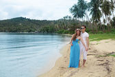 Honeymoon. Newlyweds on the tropical island, Thailand — Photo