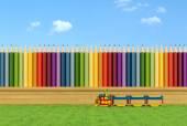 Colorful garden for children — Stock Photo
