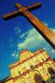 Cathedral in San Cristobal de las Casas — Stock Photo