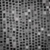 Czarno-biały wzór mozaiki jako tło — Zdjęcie stockowe