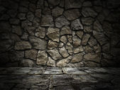 Stone wall and floor. lighting effect — Photo