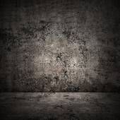 Concrete room in grunge style, urban background — Photo