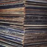 Stack of vinyl records in envelopes — Stock Photo #59038915