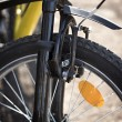 Front brake mountain bike close up — Stock Photo #66959475