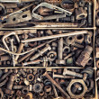 Set of old fastening elements in vintage style as a background — Stock Photo #68714083