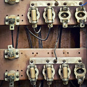 Old switchboard with fuses — Stock Photo