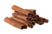 Cinnamon, isolated on white background — Stock Photo