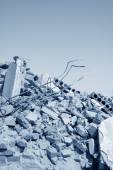 Housing demolition materials — Stock Photo
