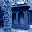 Ancient Chinese traditional architectural style in a temple — Stock Photo #65283079