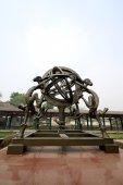 Instrumentos chineses antigos observações astronômicas em um museu — Fotografia Stock