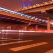 Night scene of the prosperous city, under the viaduct in beijing — Stock Photo #66060175