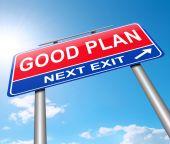Good plan concept. — Stock Photo