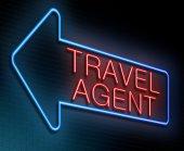 Travel agent concept. — Foto Stock