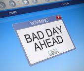 糟糕的一天的概念. — 图库照片