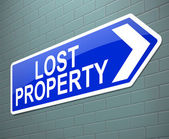 Lost property concept. — Stock Photo