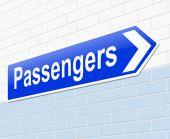 Passengers concept. — Стоковое фото