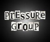Pressure group concept. — Stock Photo