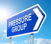 Pressure group concept. — Stock Photo