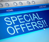 Special offers concept. — Stock Photo