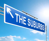 Suburbia concept. — Stock Photo