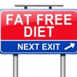 Fat free diet concept. — Stock Photo #54485365