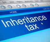 Inheritance tax concept. — Stock Photo