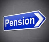 Pension concept. — Stock Photo