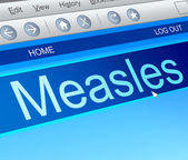 Measles concept. — Stock Photo