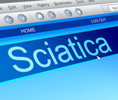 Sciatica concept. — Stock Photo